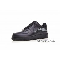 Virgil Abloh Designer Brand Independent Super Limited Off White X Nike Air Force 1 Low All-Match A Classic Sneakers All Black White Letter Aa5122-001 2018 New Style