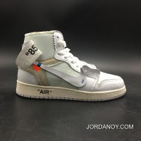 New Style Air Jordan 1 Generation Off-white X 1 White Original Product No: Number 7 5 Aq0818-100-13