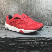 Puma R698 Classic Vintage Running Shoes Red White Authentic