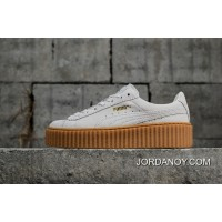 Puma Suede Creepers Rihanna Early Generation To Be Version Rice White Wheat Color Flatform Shoes Bottom Shoes SKU 361005 06 Women Shoes Latest