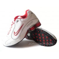 Men's Nike Shox Monster Shoes White/Red/Grey Online