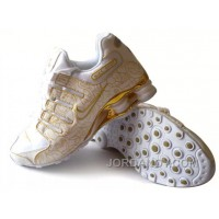 Men's Nike Shox NZ Carpenterworm Shoes White/Yellow/Gold Lastest