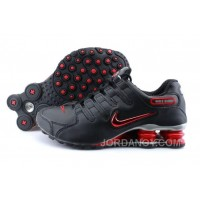 Men's Nike Shox NZ Shoes Black/Brilliant Red/Grey New Release