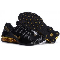 Men's Nike Shox NZ Shoes Black/Gold/Yellow Online