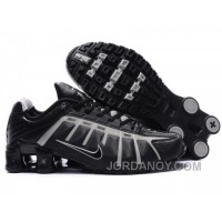 Men's Nike Shox NZ Shoes Black/Grey New Release