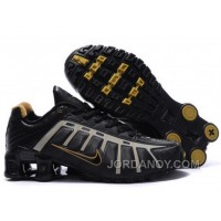 Men's Nike Shox NZ Shoes Black/Grey/Brown Cheap To Buy