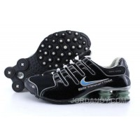 Men's Nike Shox NZ Shoes Black/Grey/Light Blue Free Shipping