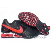 Men's Nike Shox OZ Shoes Black/Red/Silver New Release