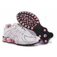 Women's Nike Shox OZ Shoes White/Silver/Light Pink Authentic
