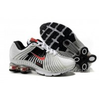 Kid's Nike Shox R4 Shoes White/Black/Red Lastest