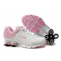 Kid's Nike Shox R4 Shoes White/Light Pink Super Deals