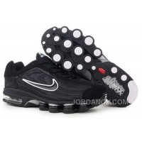 Men's Nike Air Max Shox R4 Shoes Black/White Free Shipping