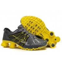 Men's Nike Airmax 2009 & Shox R4 Shoes Dark Grey/Yellow New Release