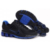 Men's Nike Shox R6 Shoes Black/Dark Blue Authentic