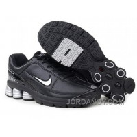 Men's Nike Shox R6 Shoes Black/Grey For Sale