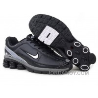 Men's Nike Shox R6 Shoes Black/Grey/White Cheap To Buy