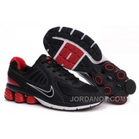 Men's Nike Shox R6 Shoes Black/Red/White Discount