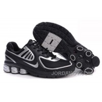 Men's Nike Shox R6 Shoes Black/Silver Cheap To Buy
