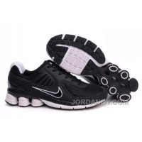 Men's Nike Shox R6 Shoes Black/White Online