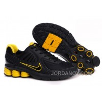 Men's Nike Shox R6 Shoes Black/Yellow Super Deals
