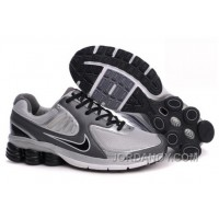 Men's Nike Shox R6 Shoes Dark Grey/Grey/Black For Sale