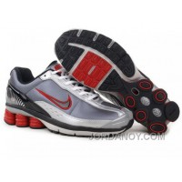 Men's Nike Shox R6 Shoes Grey/White/Black/Red New Release