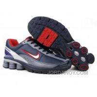 Men's Nike Shox R6 Shoes Navy/Grey/White/Red New Release