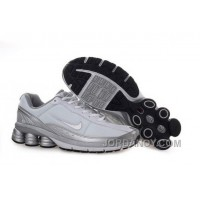 Men's Nike Shox R6 Shoes White/Grey/Silver New Release