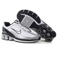 Men's Nike Shox R6 Shoes White/Silver/Black/Grey New Release