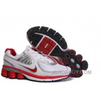 Women's Nike Shox R6 Shoes White/Red/Silver Cheap To Buy