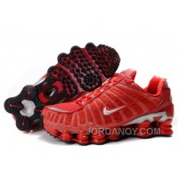 Men's Nike Shox TL Shoes Gym Red/Silver Top Deals