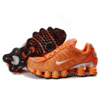 Men's Nike Shox TL Shoes Orange/Silver Authentic