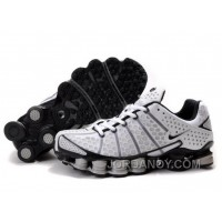 Men's Nike Shox TL Shoes White/Black/Grey Top Deals