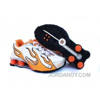Kid's Nike Shox Torch Shoes White/Orange/Grey Free Shipping