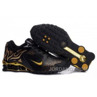 Men's Nike Shox Torch Shoes Black/Gold/Brilliant Gold Discount