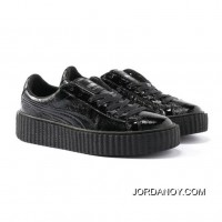 PUMA BY RIHANNA CREEPER CRACKED LEATHER Puma Black-Puma Black-Puma Black For Sale