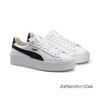 PUMA BY RIHANNA CREEPER WHITE LEATHER Puma White-Puma Black-Puma White New Style