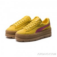 FENTY SUEDE CLEATED CREEPER WOMENS PUMA Lemon-Carmine Rose-Vanilla Ice Super Deals