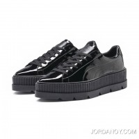 FENTY MENS POINTY CREEPER PATENT Puma Black Discount