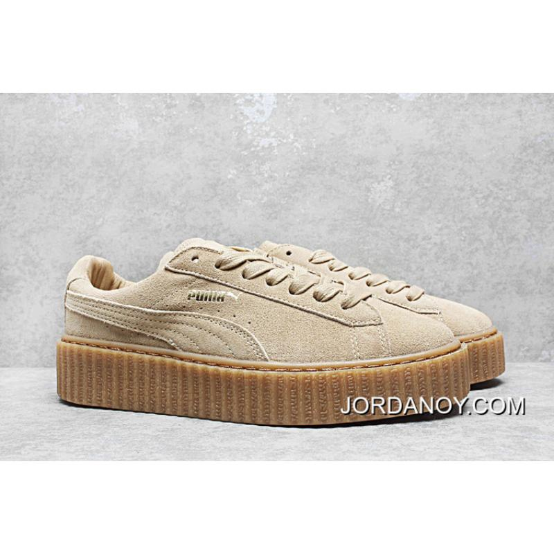 a9296a5bfd2 Women Super Deals Rihanna By Puma X Fenty Creeper Shoes 35 5 40 Wheat Color  Bottom ...