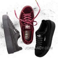 Puma By Rihanna Suede Creepers Black Grey Burgundy 2017 New Cheap To Buy HPzRwch