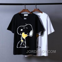 Snoopy Tshirt Black White Unisex Best