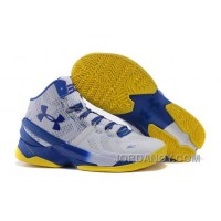 Online Under Armour Curry 2 Dub Nation Home White Blue Yellow