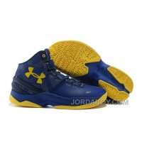 Online Under Armour Curry 2 Dub Nation Blue Yellow Cheap Sale
