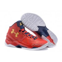 Discount Under Armour Curry 2 Floor General Red/Academy-Metallic Gold Sale