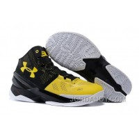 Top Deals Under Armour Curry 2 Long Shot Black/Taxi-White On Sale