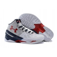 Online Under Armour Curry 2 USA White-Red/Navy Blue For Sale