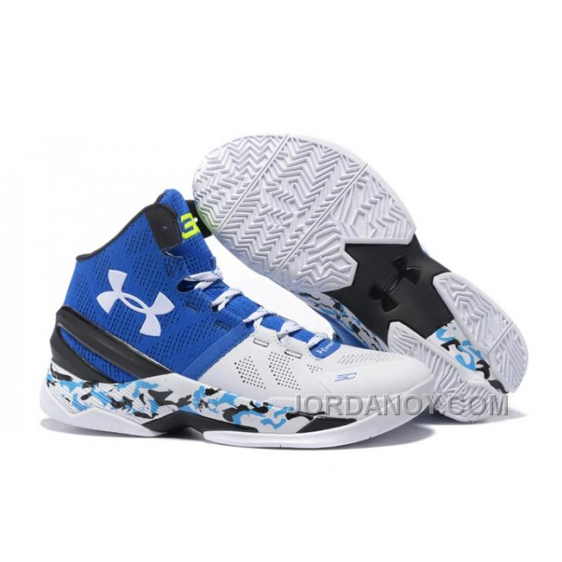 """low cost 7e3a2 1f1e0 USD  85.11  179.20. Under Armour Curry 2 """"Camo"""" White Blue Black Shoes For  Sale ..."""