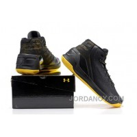 Under Armour Stephen Curry 3 Shoes Black Yellow Free Shipping
