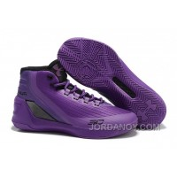 Discount UA Curry 3 Zoom Purple